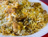Chicken or Lamb Tikka Biryani
